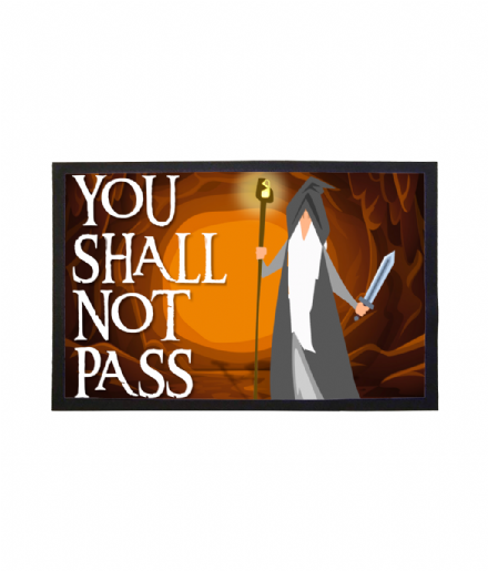 You Shall Not Pass Printed Doormat Welcome Mat Inspired by Lord of The Rings